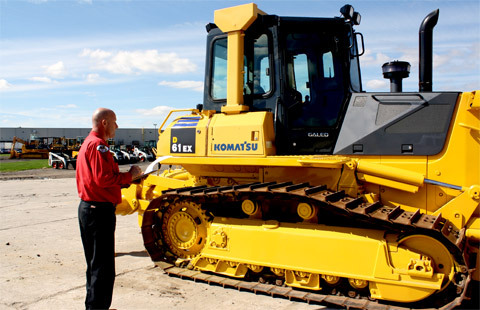 Inspecting Construction Machines