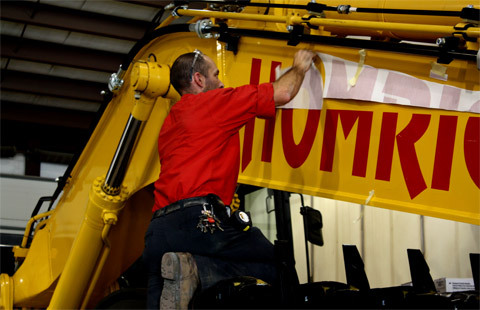 Construction Equipment Branding Decals