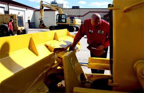 Inspecting Construction Equipment